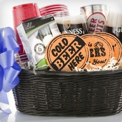 Beer Guzzler Gourmet Gift Basket
