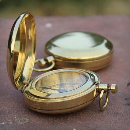 Brass Finish Compass