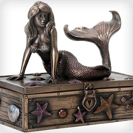 Bronze Mermaid Jewelry Box