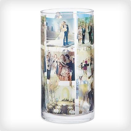 Collage Cylinder Vase