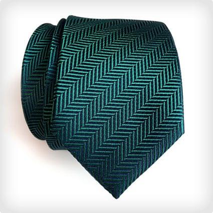 Dark Teal Silk Necktie
