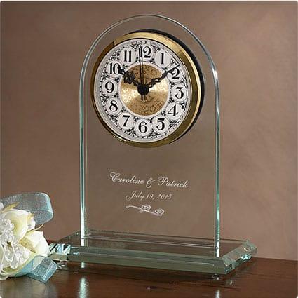 Everlasting Love Engraved Wedding Clock