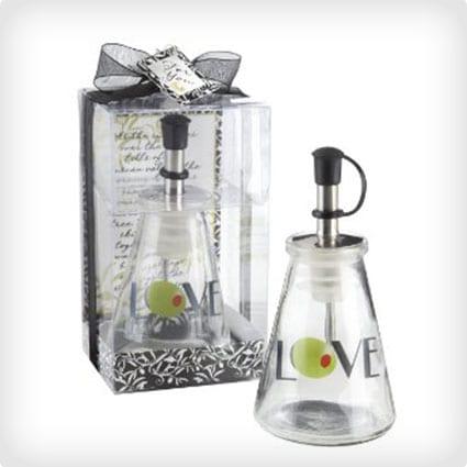 Glass Love Oil Bottle