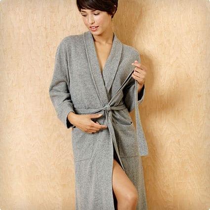 Grey Cashmere Robe
