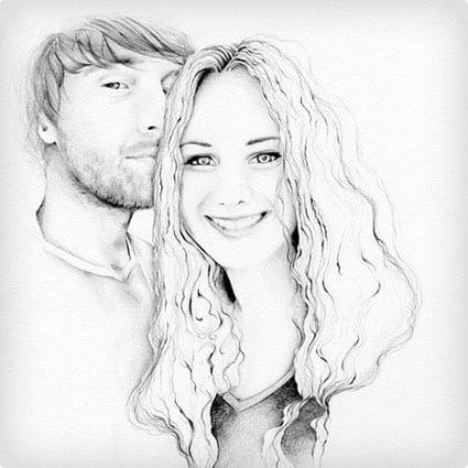 Hand Drawn Custom Portrait