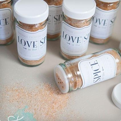 Homemade Love Spice Jar