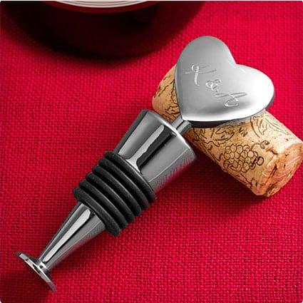 Loving Heart Engraved Heart Wine Stopper