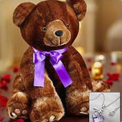 Luxury Sable Bear and Swarovski Necklace