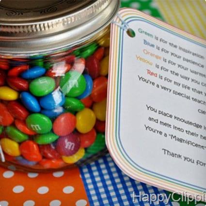 M & M Gift Jar