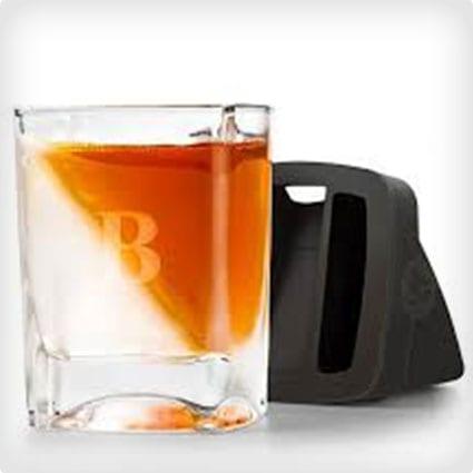 Monogrammed Whiskey Wedge