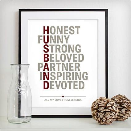 Personalized Husband Print