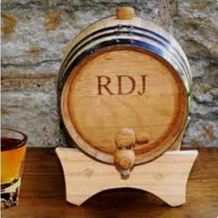 Personalized Oak Mini-Whiskey Barrel