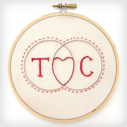 Venn Diagram Embroidery Pattern