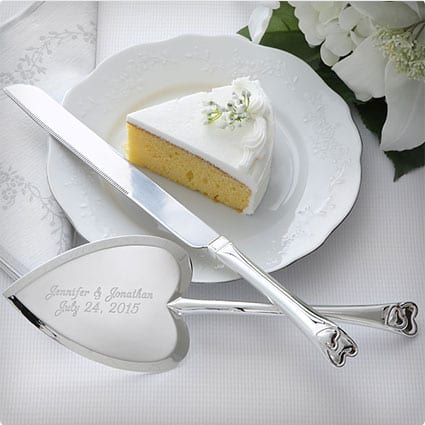 Wedding Gift Cake Knife : wedding cake knife server set no bridal shower gift list is complete ...