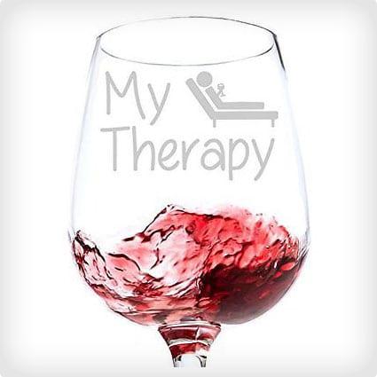 My Therapy Wine Glass