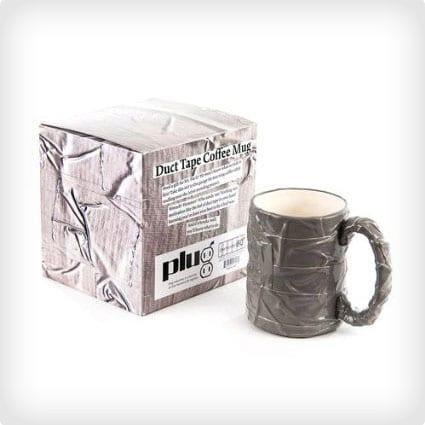 Silver Duct Tape Mug Coffee Cup