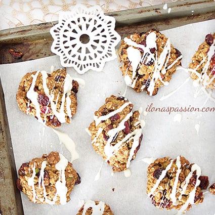 Whole Wheat Pistachio Cranberry Cookies