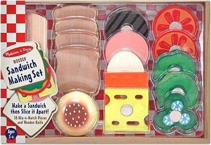 Wooden Sandwich-Making Set