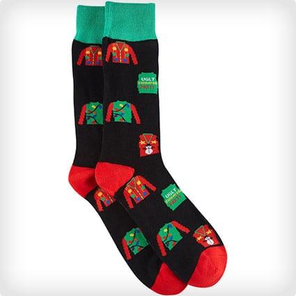 Man's Ugly Sweater Socks