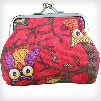 Owl Purse Clutch Bag