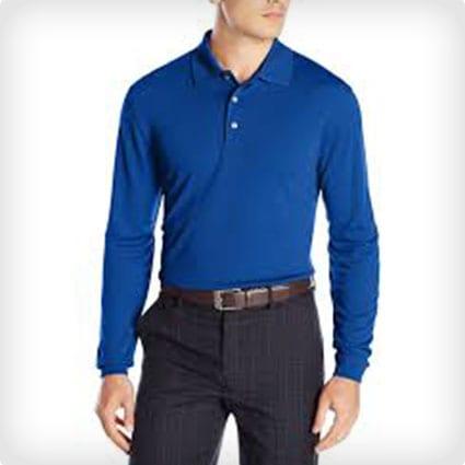 PGA Tour Men's Long Sleeve Polo