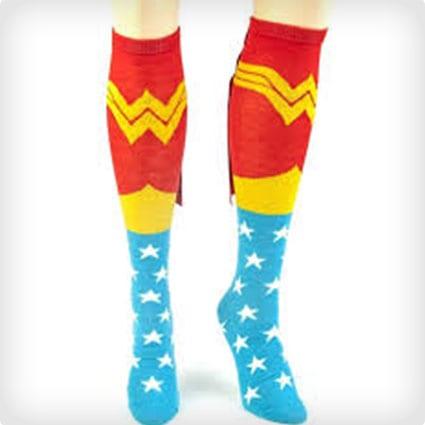 Wonder Woman Knee Socks
