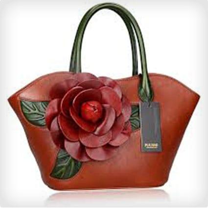 Designer Floral Handbag