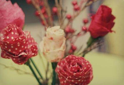 Fabric Rose Bouqet