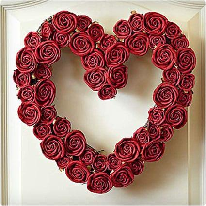 Faux Heart Wreath