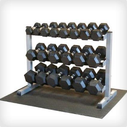 Full Dumbbell Set with Rack