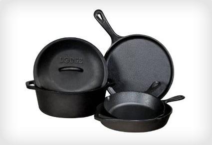 Lodge Cast-Iron Cookware Set