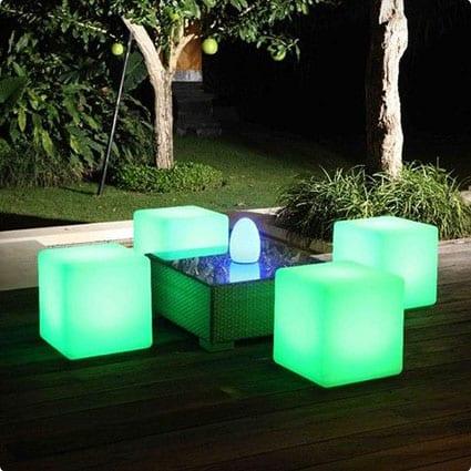 Outdoor Light Cubes
