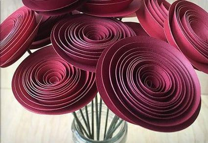 Red Satin Spirals