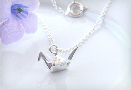 Silver Origami Crane