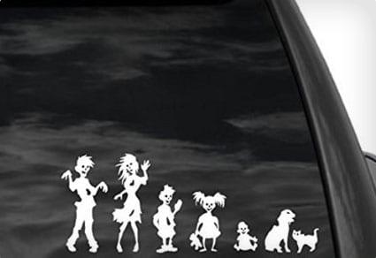 Zombie Family Car Stickers