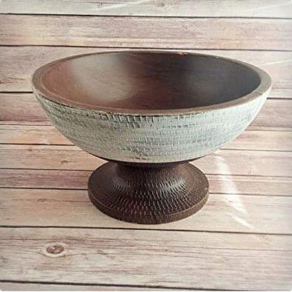 Antique Upcycled Fruit Bowl