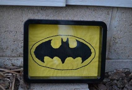 Bat Embroidery Wall Art