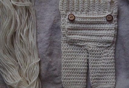 Crochet Newborn Pants