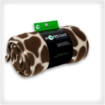 Giraffe Microfleece Travel Towel
