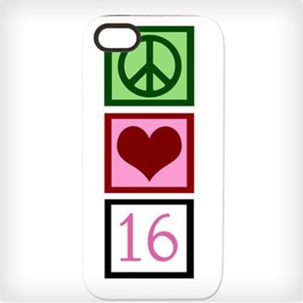 Peace/Love/16 iPhone Case