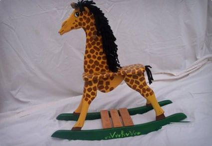 Wooden Rocking Giraffe