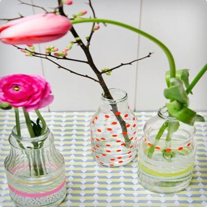 Easter Flower Bottles