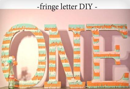 Fringe Letter DIY