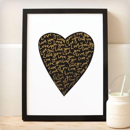 Heart Print