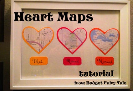 Map Hearts Display