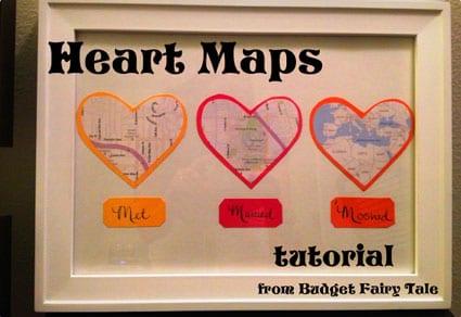 Map Hearts Display