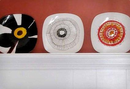 Modern Art Plates