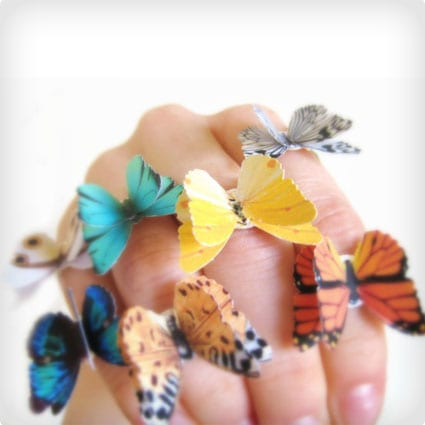 Origami Butterfly Rings