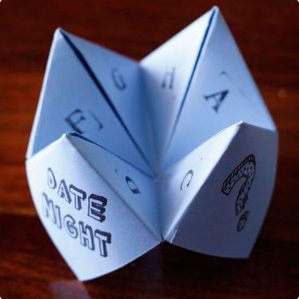 Origami Fortune Teller Dates