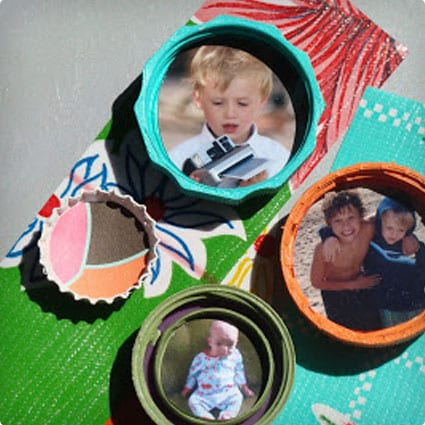 Recycled Lid Photo Magnets